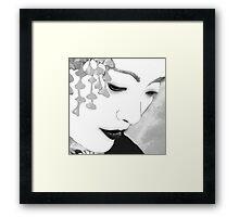 The Geisha-Close-up Framed Print