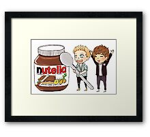 Tiny Nouis Nutella Framed Print