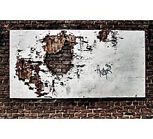 forlorn & torn...(Wall and forgotten billboard, The Beach, Toronto, Ontario, Canada) Photographic Print