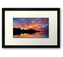 Rainbow in the sunset Framed Print