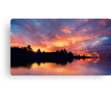 Rainbow in the sunset Canvas Print