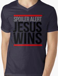 Jesus Wins Mens V-Neck T-Shirt