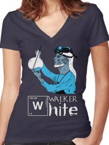 Walker White Women's Fitted V-Neck T-Shirt