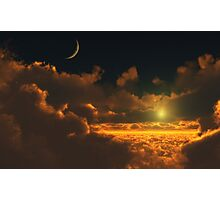 Golden Cloud Scape Photographic Print