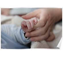 baby holding hands Poster