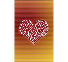 unique heart design Photographic Print
