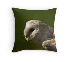Common Barn Owl Throw Pillow