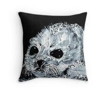 Snow Seal Pup Throw Pillow