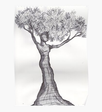 Tree Woman Poster