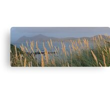 Porthdynllaen and Yr Eifel ( the rivals) from above the beach.  Canvas Print