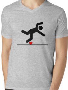 Fall in Love Mens V-Neck T-Shirt