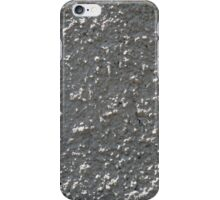 Wall of gray cement with a rough surface iPhone Case/Skin