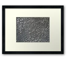 Wall of gray cement with a rough surface Framed Print
