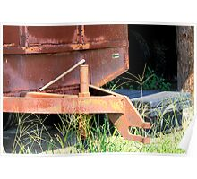 Grain Trailer Gone To Rust Poster
