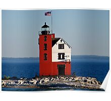 Round Island Lighthouse - Michigan Poster