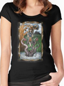 Luna's Haunting Trapeze Act Women's Fitted Scoop T-Shirt