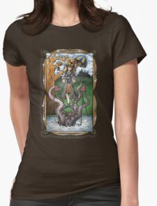 Luna's Haunting Trapeze Act Womens Fitted T-Shirt