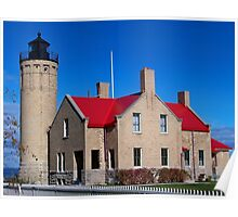 Old Mackinac Point Lighthouse - Michigan Poster