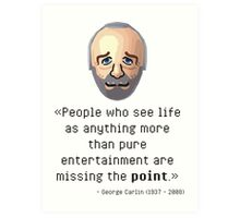 George's point of view Art Print