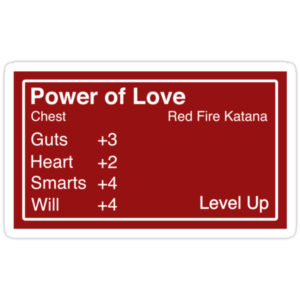The Power of Love Sticker by Bamboota