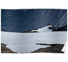 Sahale Peak Star Trails - North Cascades N. P. Poster