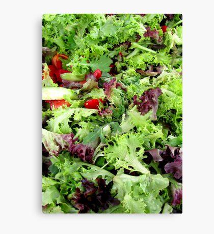 Mesclun Salad Canvas Print