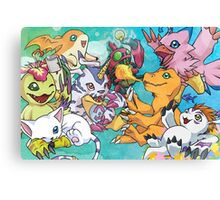 Digimon Rookie Team Canvas Print