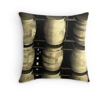 """Wine Barrels at Pali Winery"" Throw Pillow"