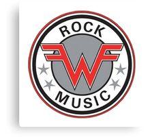 weezer logo rock music Canvas Print