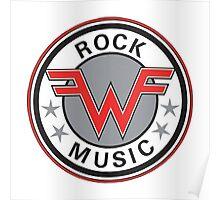 weezer logo rock music Poster