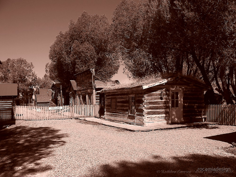 Nevada City Sepia 1 (Montana, USA) by rocamiadesign