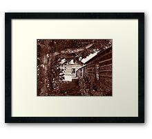 Nevada City Sepia 2 (Montana, USA) Framed Print