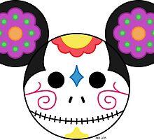 Mickey Sugar Skull by Amanda Eileen Ballard