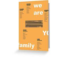 we are YG: BIGBANG Greeting Card