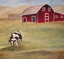 The Lonely Cow by joelionbat