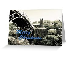 Merry Christmas Ironbridge Village Spring Snow Greeting Card