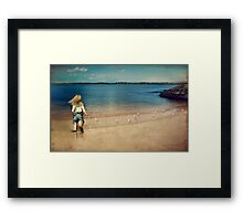 seaside holiday Framed Print