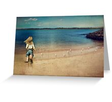 seaside holiday Greeting Card