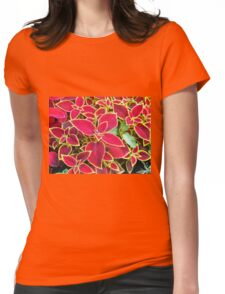Red Coleus plant closeup Womens Fitted T-Shirt