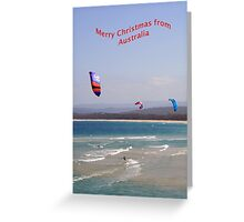 Surfing at Merimbula NSW Greeting Card