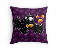 A Little Batty Throw Pillow