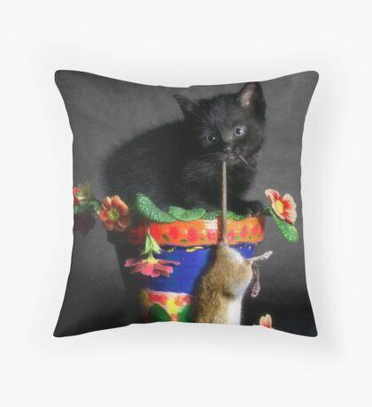 Rat Cat Throw Pillow