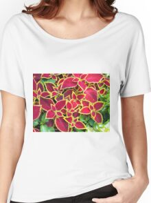 Decorative red and yellow coleus Women's Relaxed Fit T-Shirt