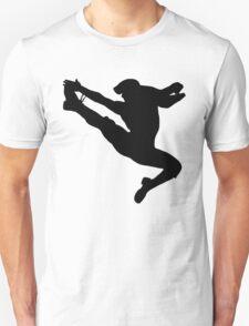 Jumping Newsies Newsboy White Background T-Shirt