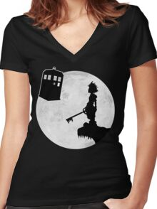 The Key To Another World Women's Fitted V-Neck T-Shirt
