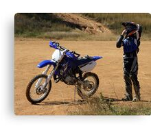 From a Pit Bike to a YZ Canvas Print