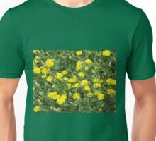 Thickets of small yellow flowers Picris Rigida Unisex T-Shirt