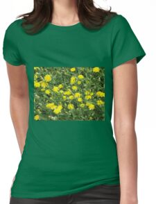 Thickets of small yellow flowers Picris Rigida Womens Fitted T-Shirt