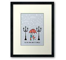Rainy day umbrella Framed Print