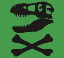 T-Rex Skull & Crossbones Kids Clothes